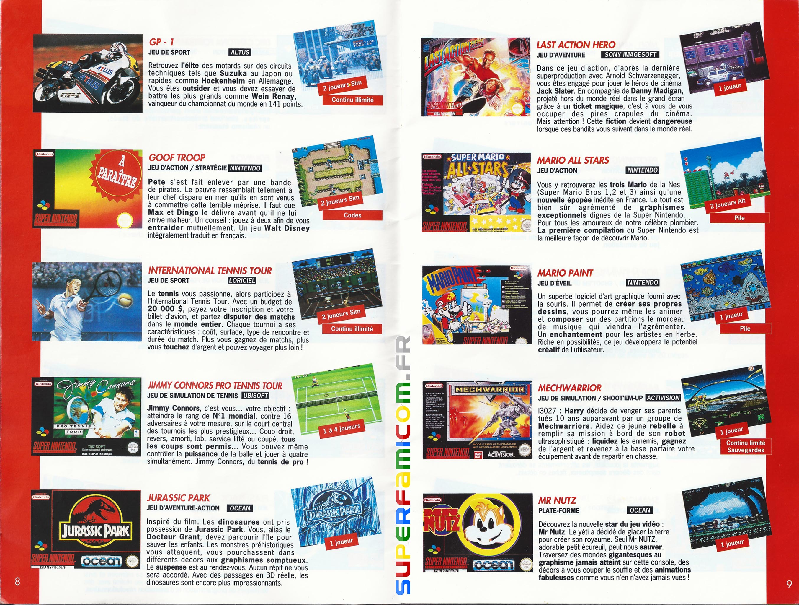 SuperFamicom.fr SNES Catalogue1993 04