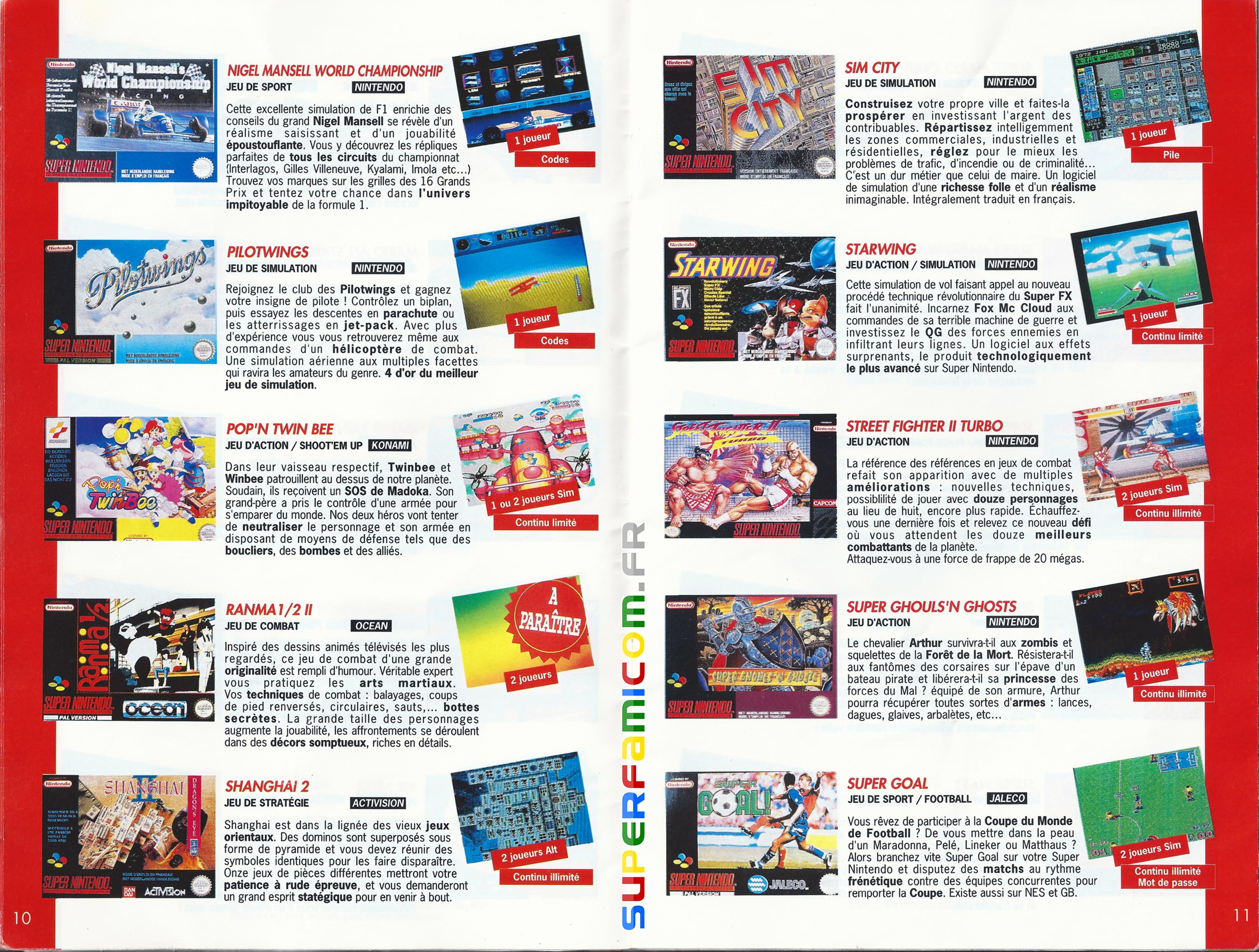 SuperFamicom.fr SNES Catalogue1993 05