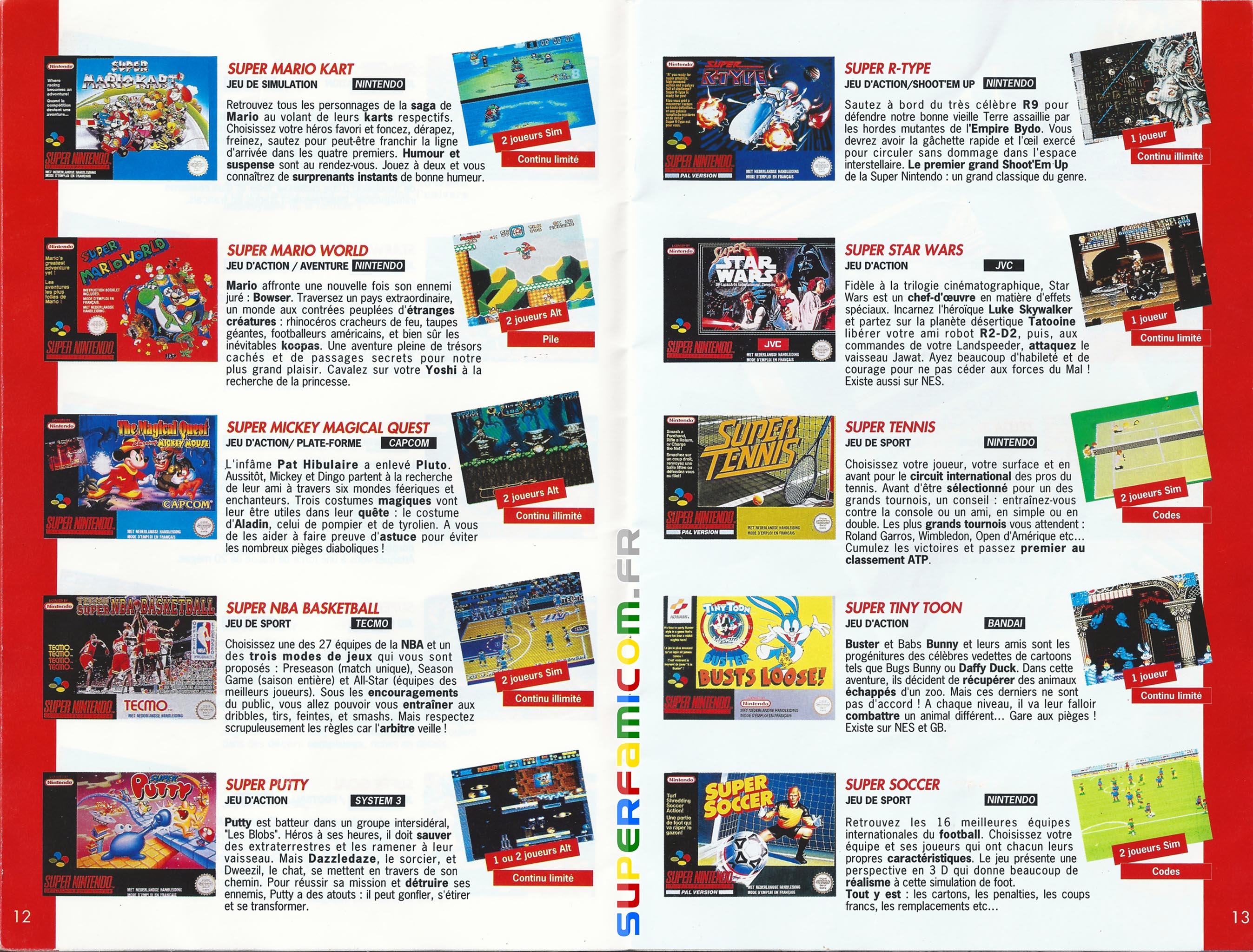 SuperFamicom.fr SNES Catalogue1993 06