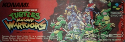 Teenage Mutant Ninja Turtles - Mutant Warriors [Tournament Fighters]