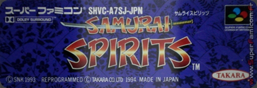 Samurai Spirits [Cheats]